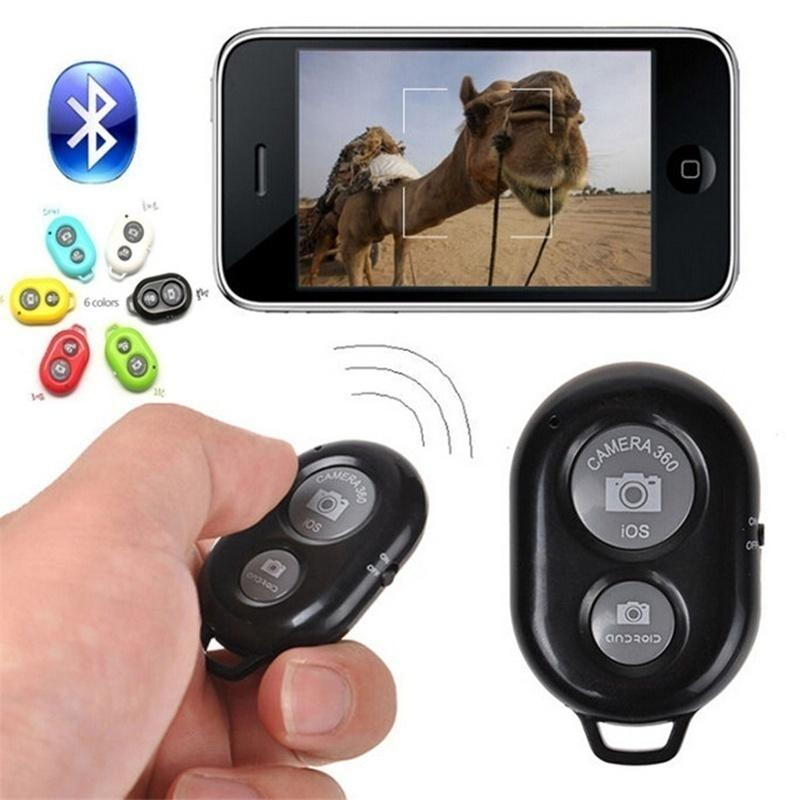 Universal Wireless Bluetooth Remote Shutter Selfie Camera Shutter Self Timer Remote Control for IPhone and Samsung Android