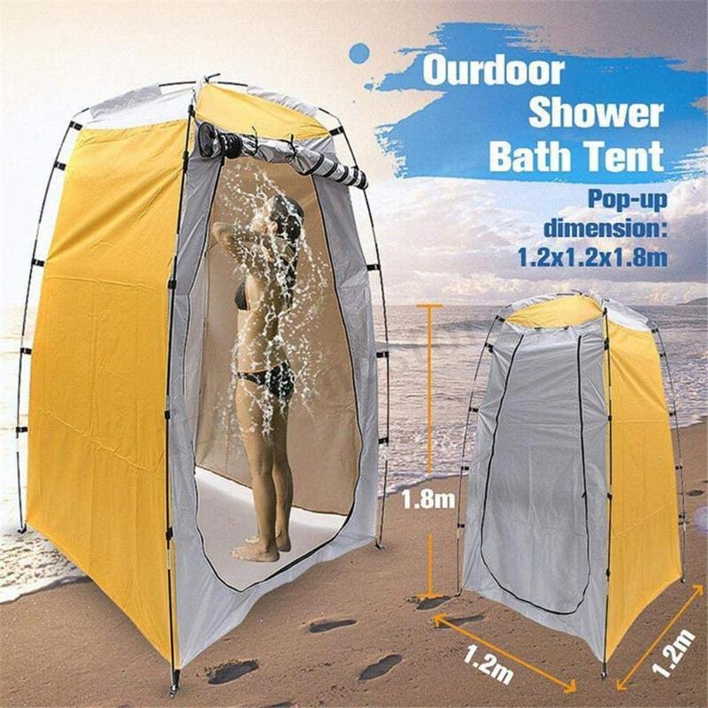 الخيام والملاجئ المحمولة في الهواء الطلق دش حمام خيمة تغيير غرفة المناسب للماء التخييم المأوى الشاطئ خصوصية المرحاض