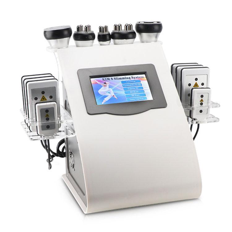6에서 1 초음파 40K Cavitation Cavitation Machine 라디오 주파수 Lipo 레이저 슬리밍 장치 판매