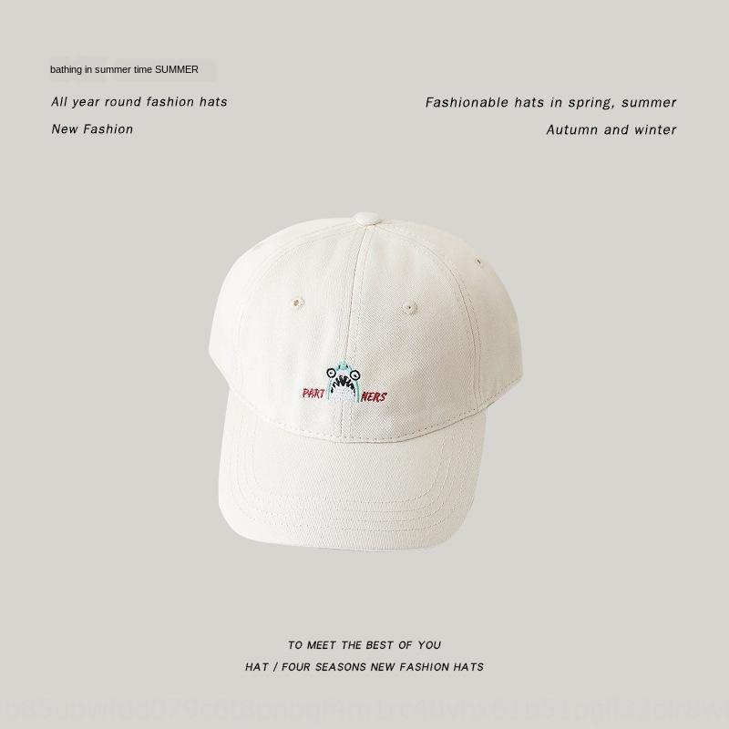 La primavera y el verano nueva tapa ins sombrero de béisbol señaló tiburón de dibujos animados estilo gorra de béisbol sombrero para el sol capota de lona de las mujeres de Corea del casquillo enarbolado m