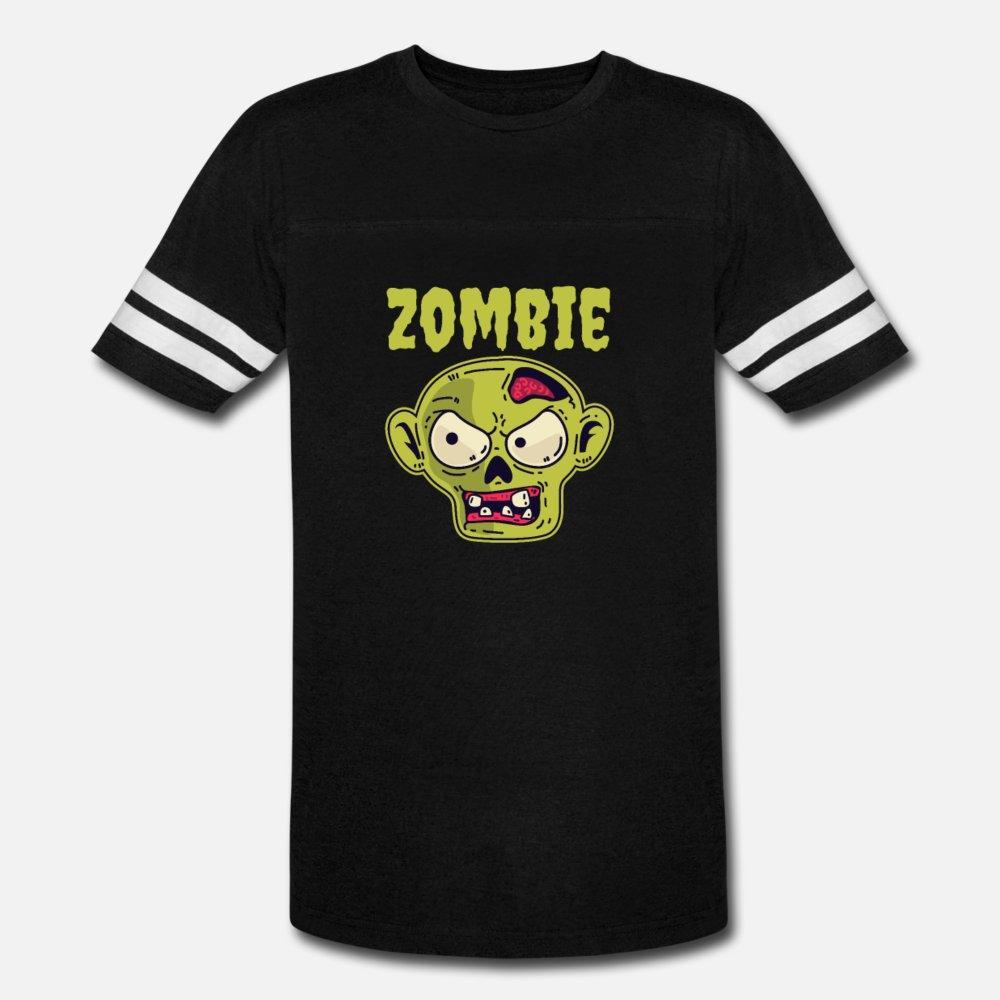 Shirt da cara de zumbi assustador Halloween T Shirt Men personalizado 100% algodão tamanho S-3xl traje anti-rugas de Moda de Nova Padrão Verão