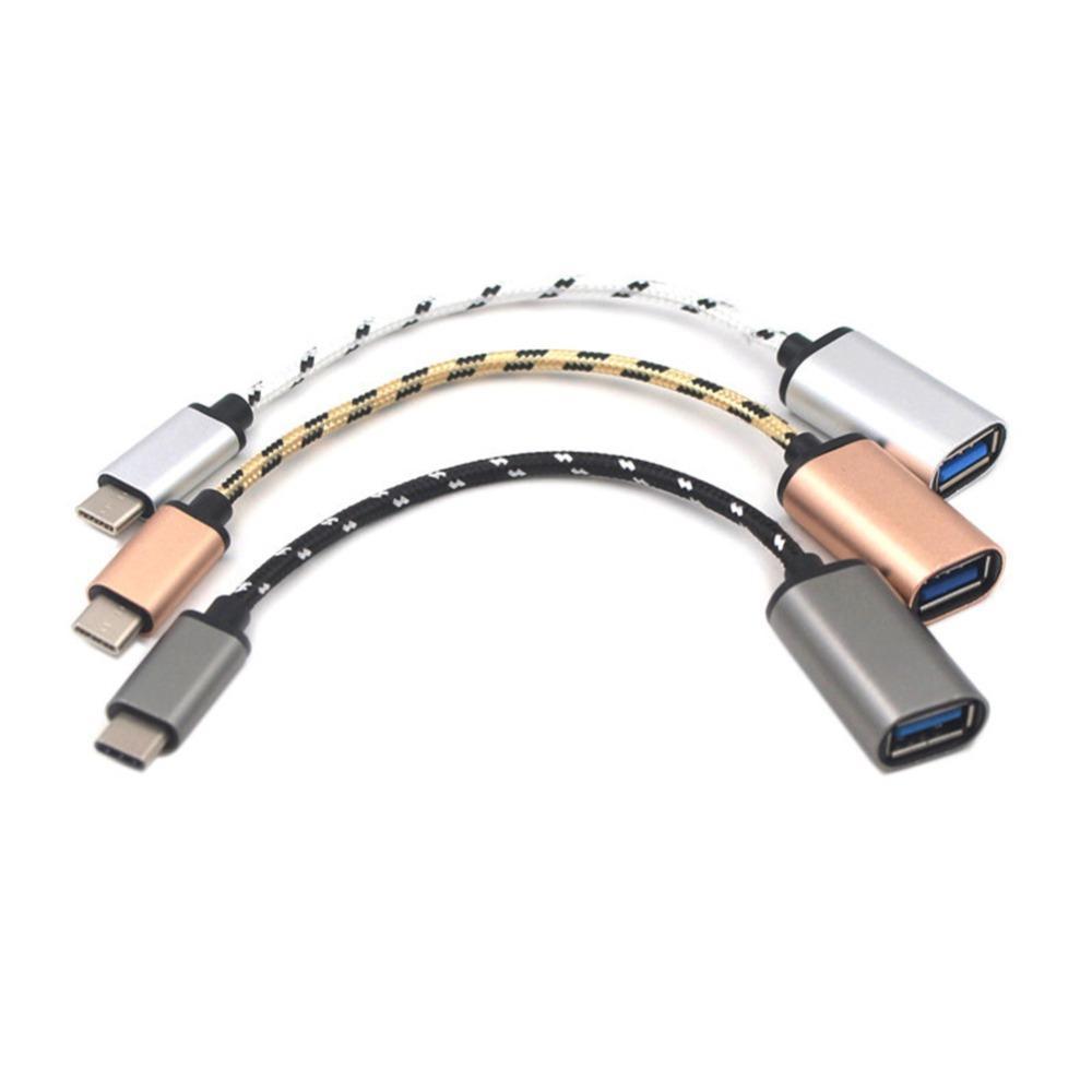 cgjxs de Micro USB Cable Usb 0.1 Tipo 3 -C -C USB OTG USB3 0.1 macho a Usb2 0.0 Tipo de adaptador hembra -Un cable de recarga de teléfono móvil