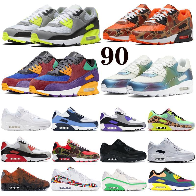 Klasik 90 Erkek Bayan Koşu Ayakkabıları Ters Ördek Camo OG Volt 90 S Mars Landing Yansıtıcı Erkek Eğitmenler Yastık Yüzey Spor Sneakers