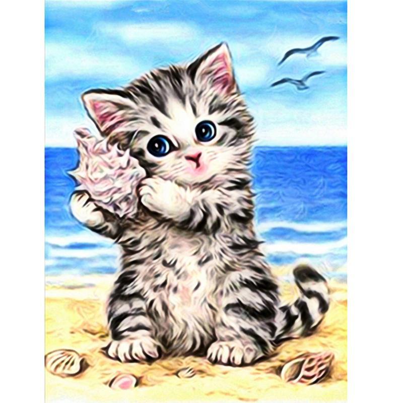 5D DIY diamante pintura ecológica Cat For Children Diamante Bordados Europa Dirll Natural lona Mosaic Rhinestone Home Decor