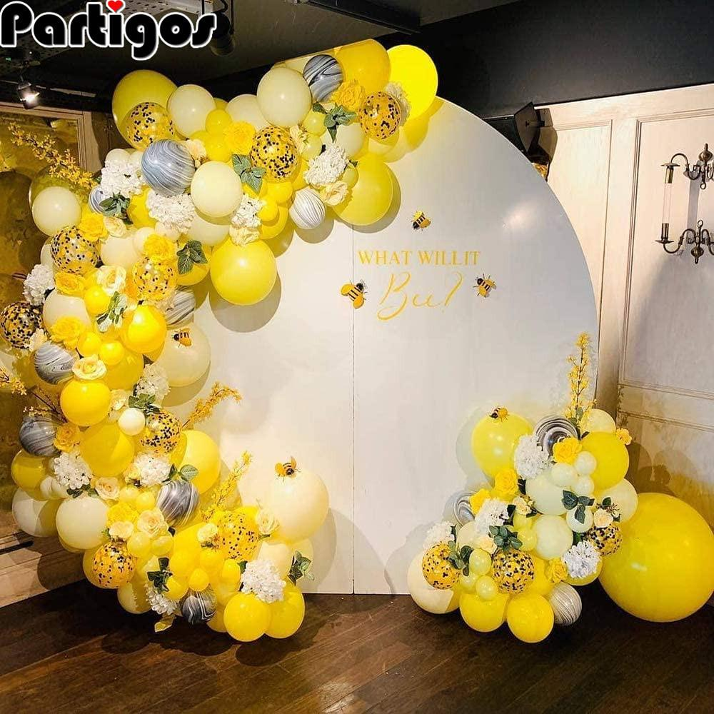 Bee Balloons Garland Arch 122pcs tema Honeybee Decor agata nera accessori per la casa Confetti Latex Balloon Wedding della festa di compleanno