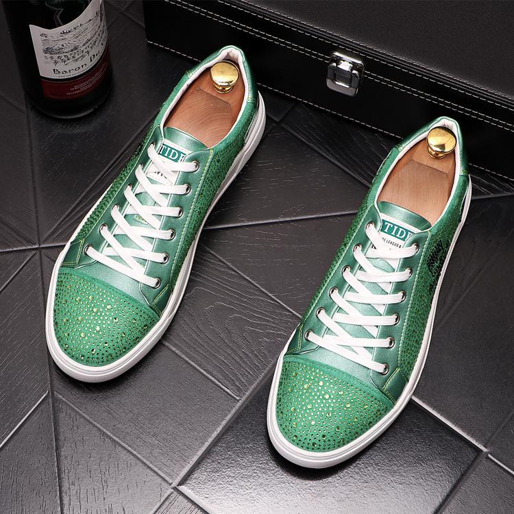 2020 calzados informales de lujo del Rhinestone cráneo del pirata nueva tendencia de los hombres de los holgazanes de Pisos masculinos diseñador prom Zapatos Zapatos zapatillas de deporte Hombre