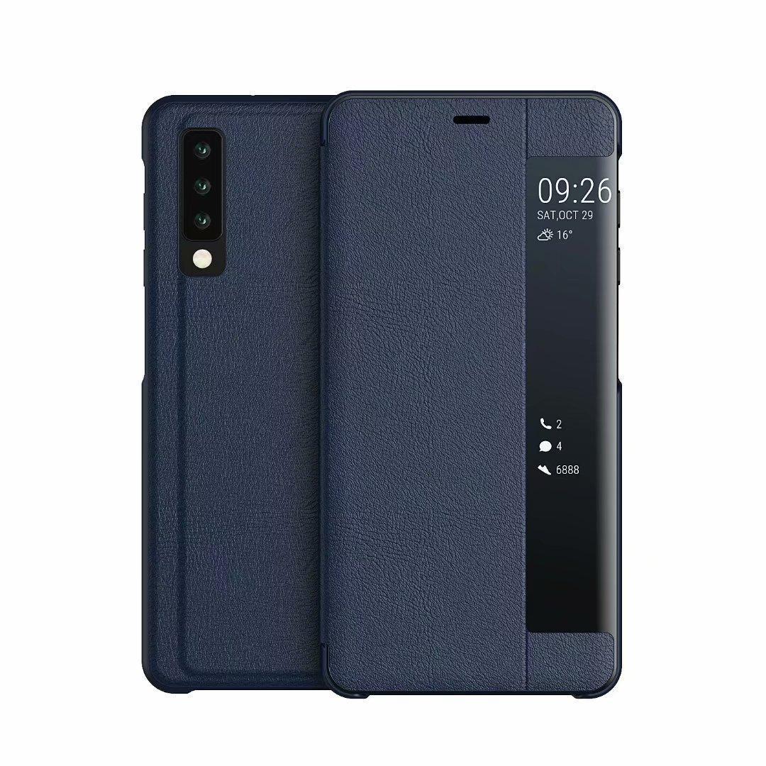 Cgjxs para Samsung S10 S10e S9 Plus S8 S7 Edge J4 J6 A7 2018 tirón de identificación de llamada ventana abierta billetera de cuero elegante del caso del soporte del sostenedor de lujo Co