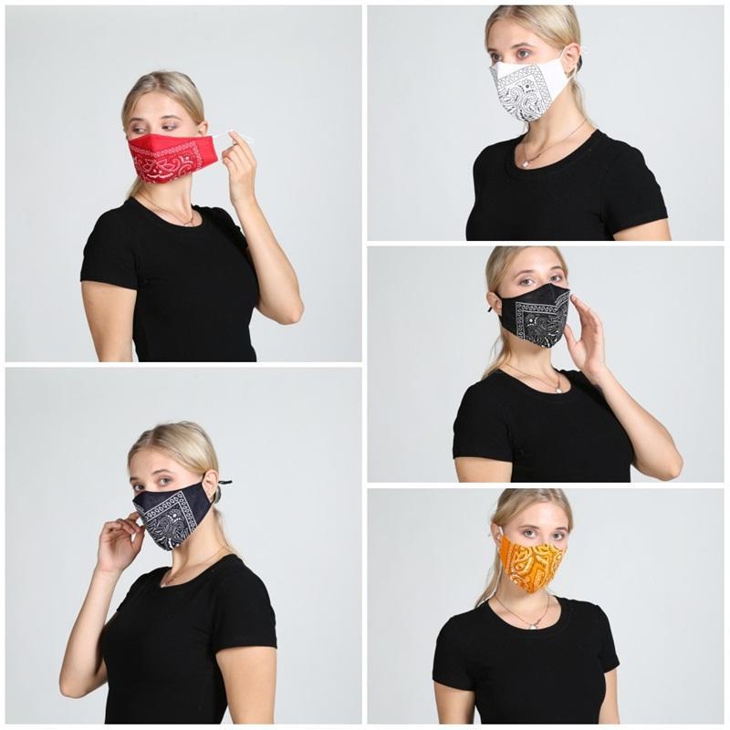 Máscaras reutilizáveis lavável cara contra pó Mascarilla proteção respirador Multicolour Caju Go Out equitação respirabilidade No Verão 4 5wh D2