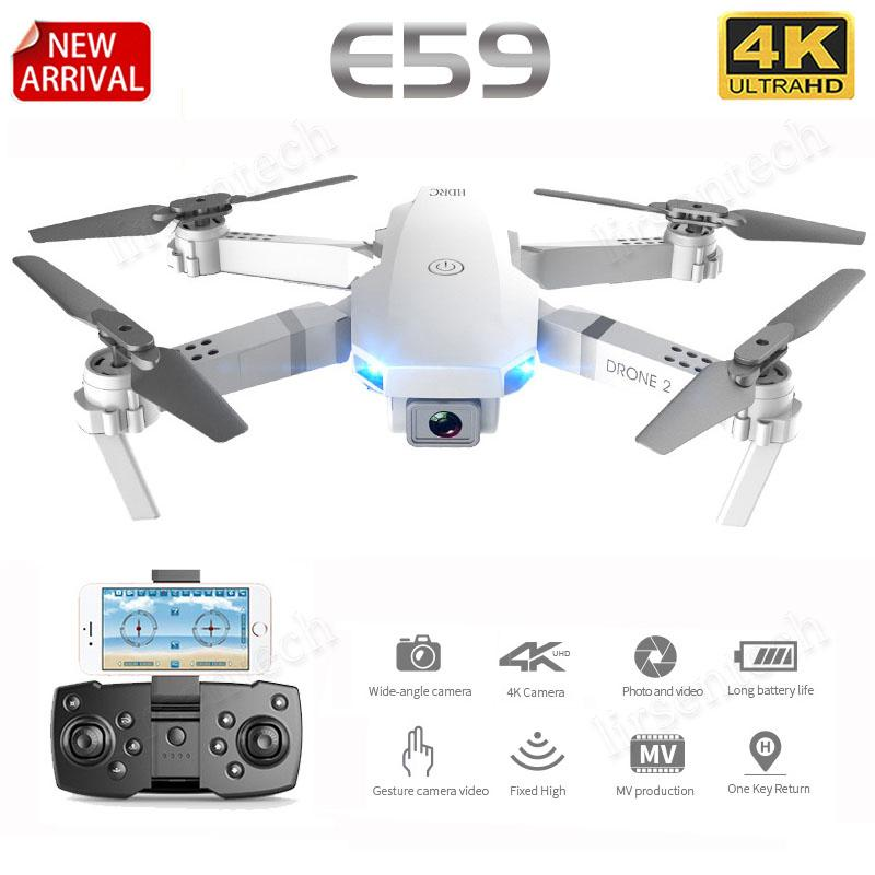 E59 RC LED بدون طيار 4K HD فيديو كاميرا جوية التصوير الهليكوبتر 360 درجة فليب واي فاي حياة بطارية طويلة ل kis الكبار 2020