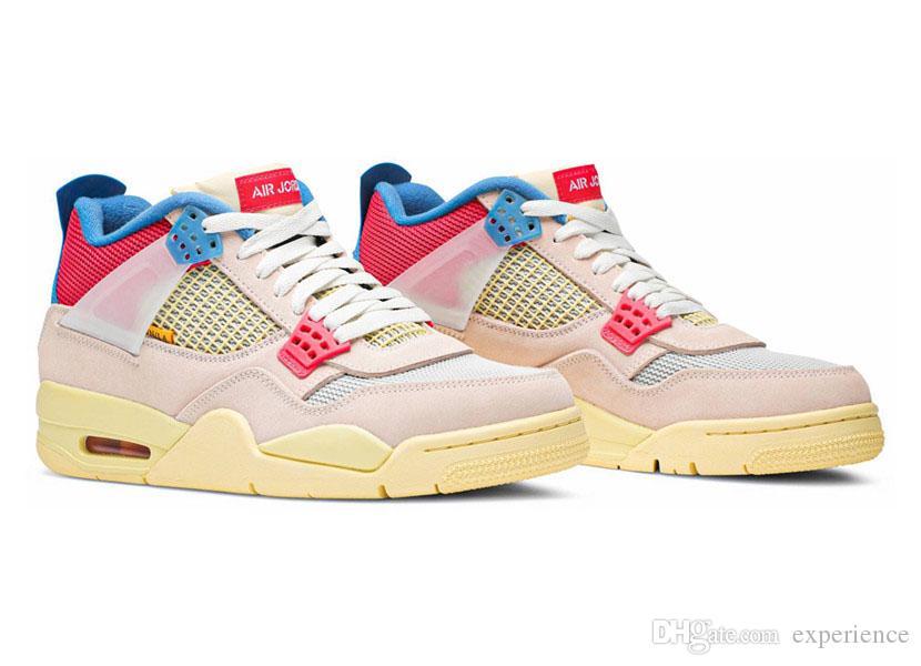2020 Scarpe autentiche 4 Union La Guava ghiaccio fuori Noir 4S Sophomore Album delle donne degli uomini di pallacanestro Delta Mid Zoom 92 scarpe da tennis di Los Angeles con la scatola