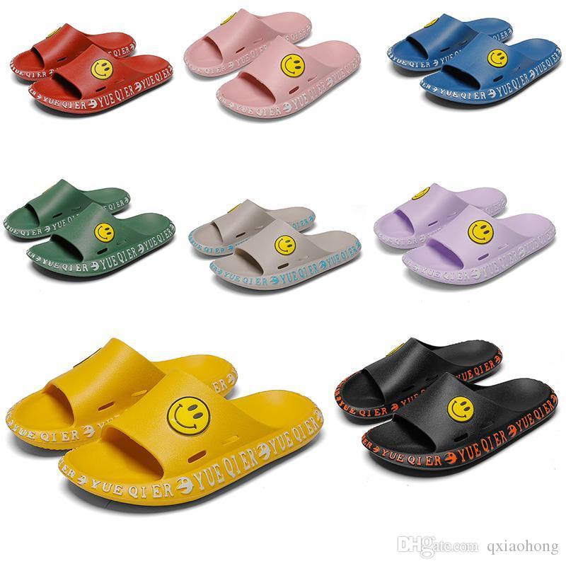 Новые классические смайлик дизайнер сандалии моды бренд мужчин и женщин случайные тапочки рыболова обувь