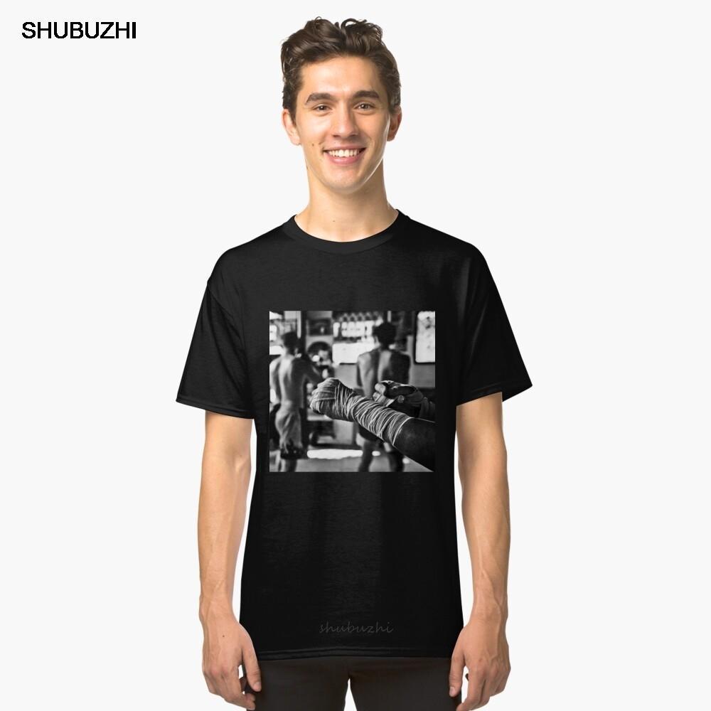 verano camiseta para hombres de algodón marca Muay Thai Hand Wraps camiseta clásica TEESHIRT masculino de la manera camisetas