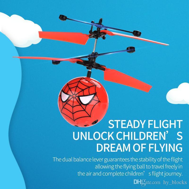 Personajes de dibujos animados Drone Sensing Pelota de vuelo Vuelo Gesto Noche Control de inducción de avión Niños Luz Remoto Remoto Infrarrojo Regalo Niños T DSND