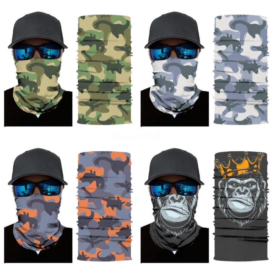 Hot riciclaggio di vendita del pattino della maschera del collo proteggere Outdoor Full Face Mask ultra sottile e traspirante antivento # 455