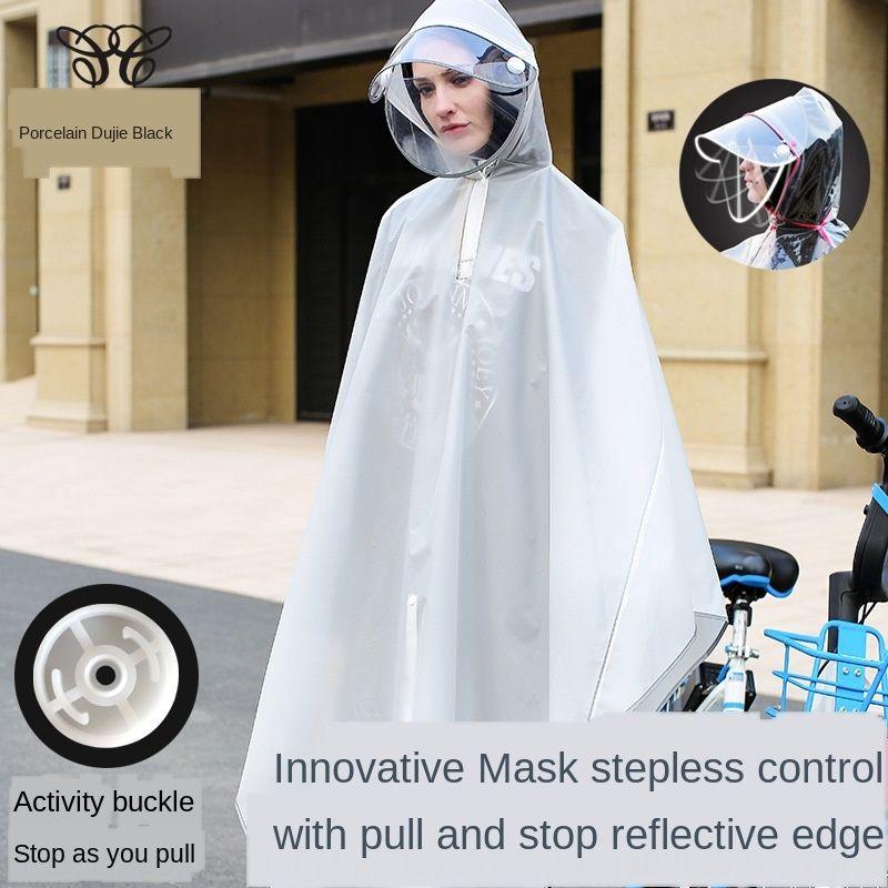 moda 1f7qG EVA reflexivo dupla borda elétrica ao ar livre cor capa de chuva mochila não descartável impressão bicicleta C homens e mulheres poncho das