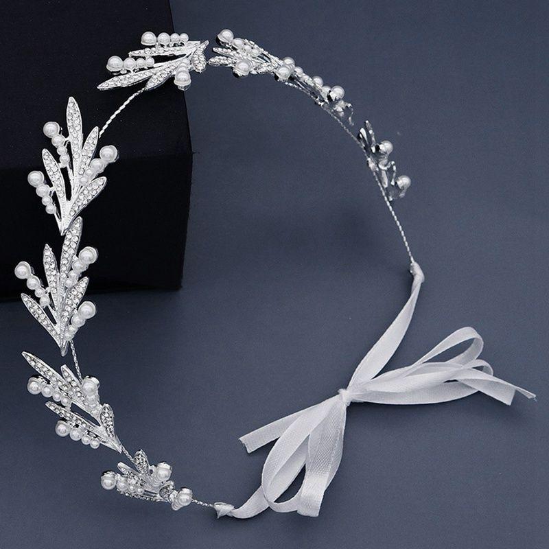 Цветок расчесывают Headdress Пром Люкс Свадебные аксессуары для волос Корона Золотые листья Jewelry Pins