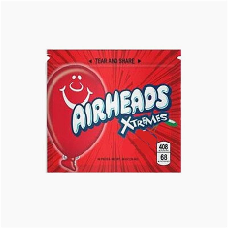 Airhead Zipper Package Edibles Pouch resealable package Mylar Bag Empty Zipper Pouch Retail Storage For Dry Herb Tobacco Flower Package