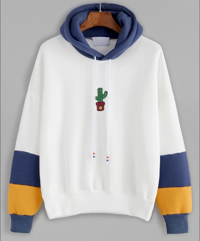 A9JnV Damen Herbst und Winter der neue heißen Verkauf mit Kapuze langärmliger gedruckt Mantel Pullover Pullover Mantel