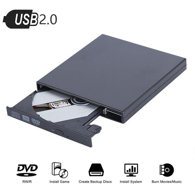 외부 DVD 드라이브 유형 -C 울트라 씬 USB 3.0 모바일 광학 드라이브 노트북 DVD-R DVD / CD 용 바탕 화면