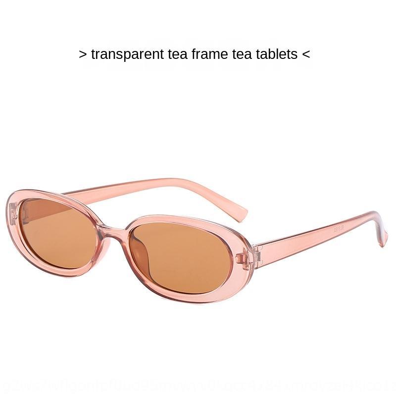 Mode und Sommer neu oval Sonne modische Rahmen personalisierte Farbe Frühling Sonnenbrille kleinen Rahmen Sonnenbrille 5192 HkOJi