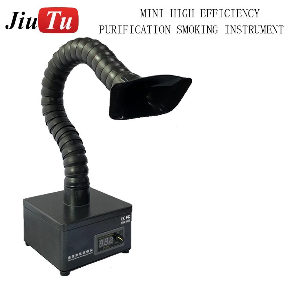 إزالة LCD خلف زجاج فاصل الدخان النازع الليزر قناة واحدة لحام لحام دخان امتصاص الدخان النازع