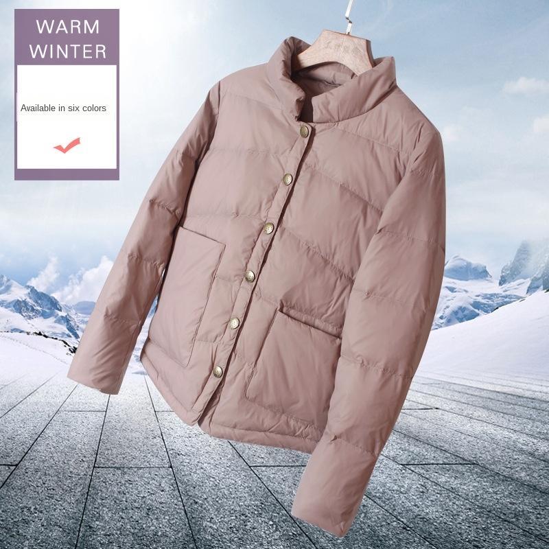 Kadınların hafif kısa ceket ceket moda aşağı hafif gevşek Koreli moda aşağı 2020 Kış yeni beyaz ördek