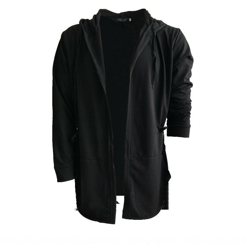 Qr9zA calle alta capa de la capa del suéter con capucha 2019 estilo de Corea Capa de primavera de los hombres y la mitad de la longitud del cabo de otoño con capucha W04 diseño de los hombres
