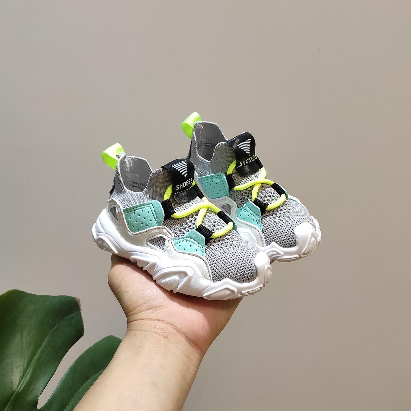 Chaussures bébé 2020 Automne enfants volant Set Tissé de Pieds Chaussures de course 1-3 Ans Baby Soft Soles Chaussures enfant en bas âge
