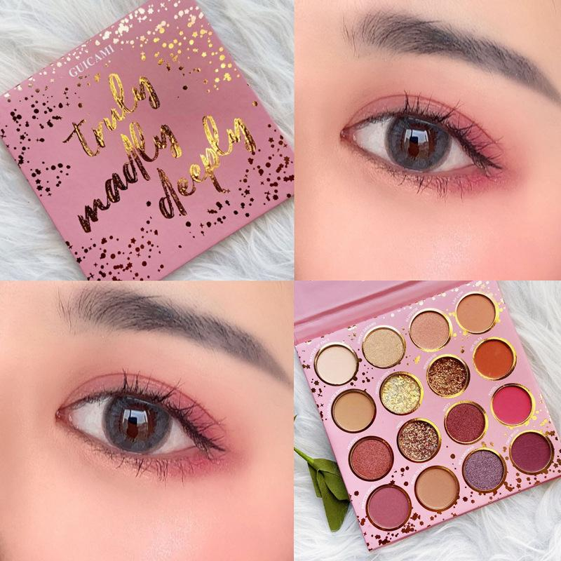 Beauty Verglaste 16 Farben Fusion Schminke Pallete Highlighter Schimmer-Make up Pigment Lidschatten-Palette Kosmetik