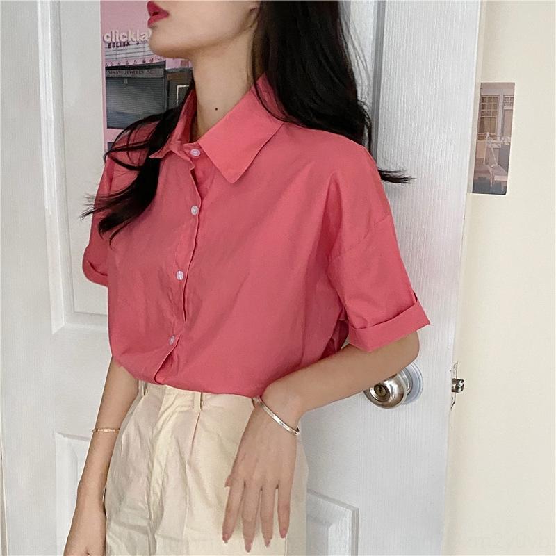 4qOJP Jpb96 Sinn Anzug neue Design 2020 Nische Allgleiches rosa T-Shirt + Kurzschlusshosenanzug Kurzschlusshosen anderen T-Shirt Sommer eingestellt