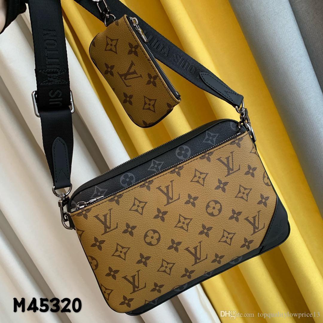 en kaliteli lüks kadın tasarımcı çanta deri kadın çanta moda erkek deri shouler çanta ücretsiz gönderim 25-18-4cm M45320