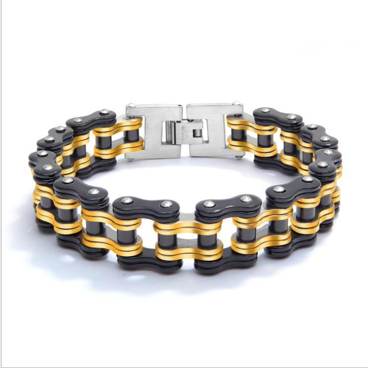 Förderungverkauf Mischauftrag hochwertige Herren-Edelstahl Motorradkette Armbänder Fahrradkette Armbänder Edelstahlarmband GJ