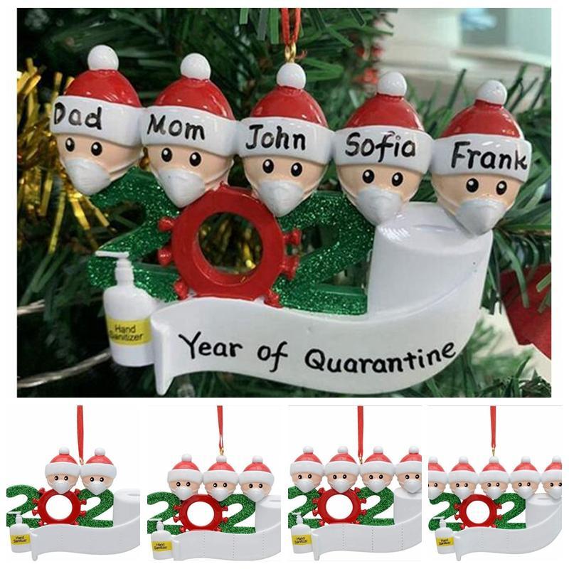 Enfeites de natal 2020 Hanging Xmas Ornamentos Papai Noel Natal da família Decoração Pingente partido Home Xmas Detalhes no YYA448