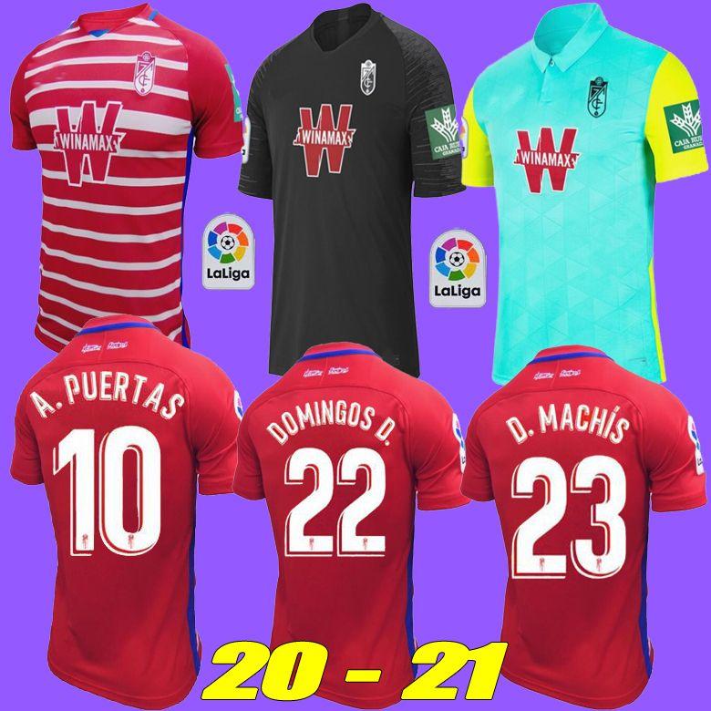 NEW 20 개 21 개 그라나다 축구 유니폼 홈 원정 셋째 솔다도 VALLEJO 2020 2021 안토니오 푸에르타 Vadillo camiseta 드 푸 웃볼 축구 셔츠