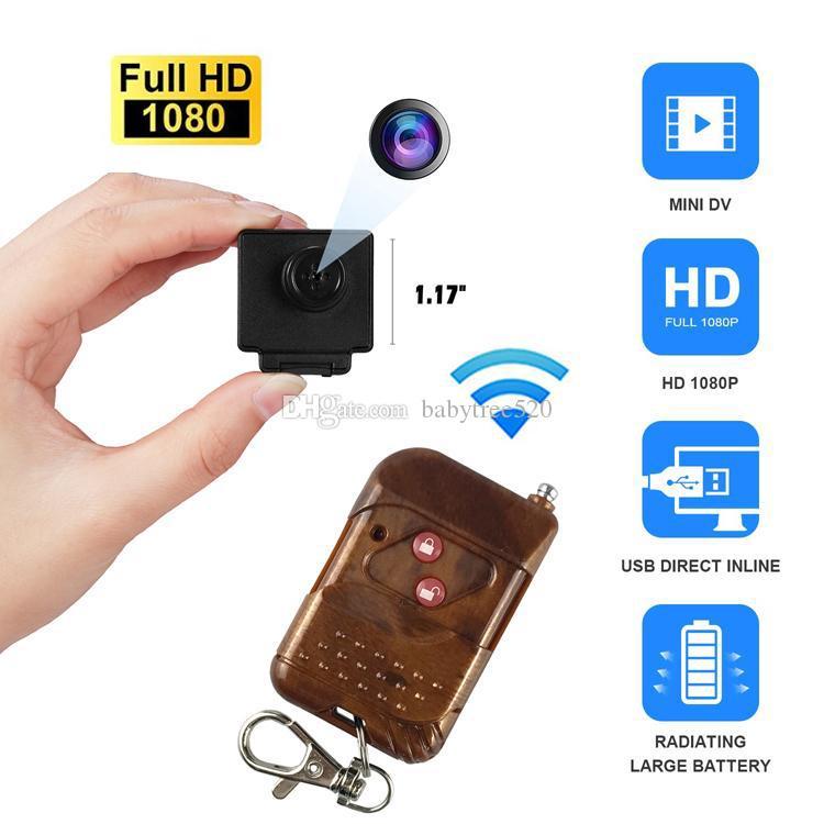 1920 * 1080P البسيطة تي شيرت زر DVR كاميرا الثقب كاميرا واي فاي Camcorde بعد 30fps تجهيز تحكم HD IP البسيطة الصغيرة كاميرات المراقبة