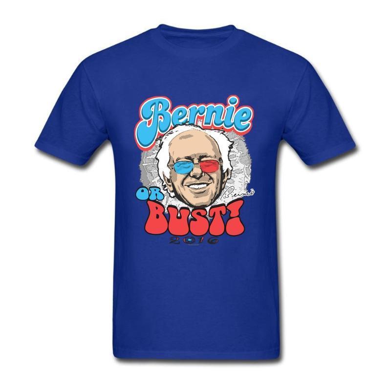 Yeni tasarlanan Erkekler Tişörtlü Bernie veya Erkek Tees için Büst 2016 Kısa kollu Saf Pamuk Yuvarlak Yaka T Shirt