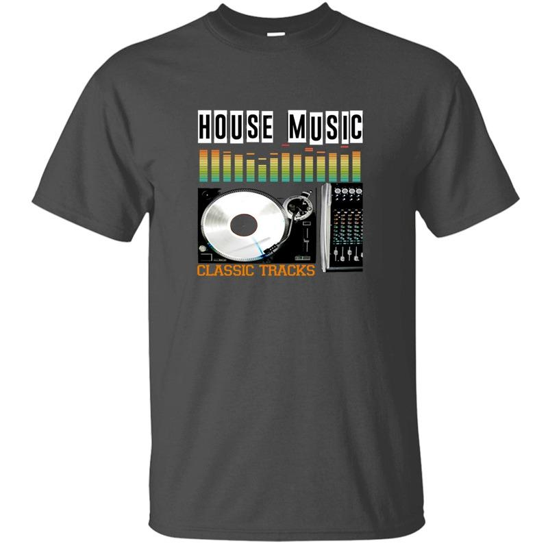 The New Casual House Music Classic Tracks T-Shirt Man 100% Cotton Cute Black Clothes Comical Men And Women Tshirts