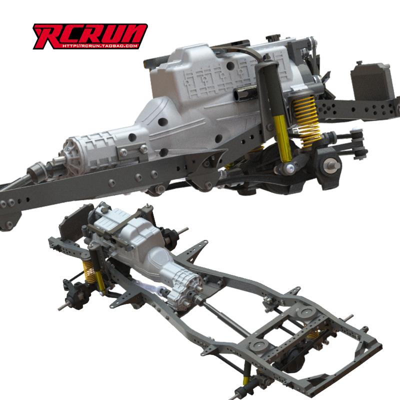 SCX10 LC80 LC70 D110 Body 2020 Yeni Rcrun 01:10 Rc Crawler Ayarlanabilir 295-343mm Alaşım Şasi Çerçevesi