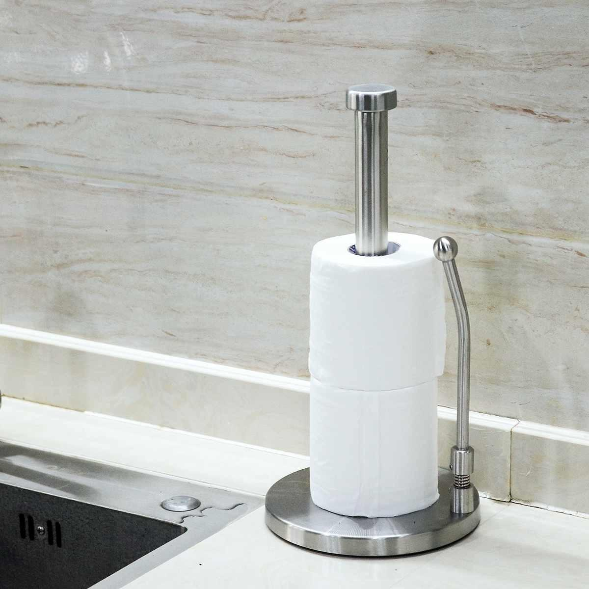 2020 Desktop Vertical Paper Holder Kitchen Napkins Stand Rack Toilet Towel Tissue Holder Paper Towel Dispenser Bathroom Hardware T200425 From Highqualit09 23 32 Dhgate Com