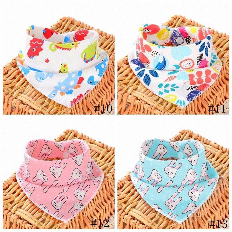 13Styles Baby Bibs Burp Cloths Infant Triangle Scarf Cartoon Print Baby Bibs Toddlers muslin Cotton Bandana Burp GGA3391-2 uz8k#