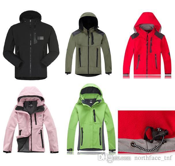 Hommes Veste imperméable respirante Softshell Femme Homme plein air Sport Manteaux d'hiver Ski Randonnée coupe-vent Outwear veste de randonnée douce hommes Shell