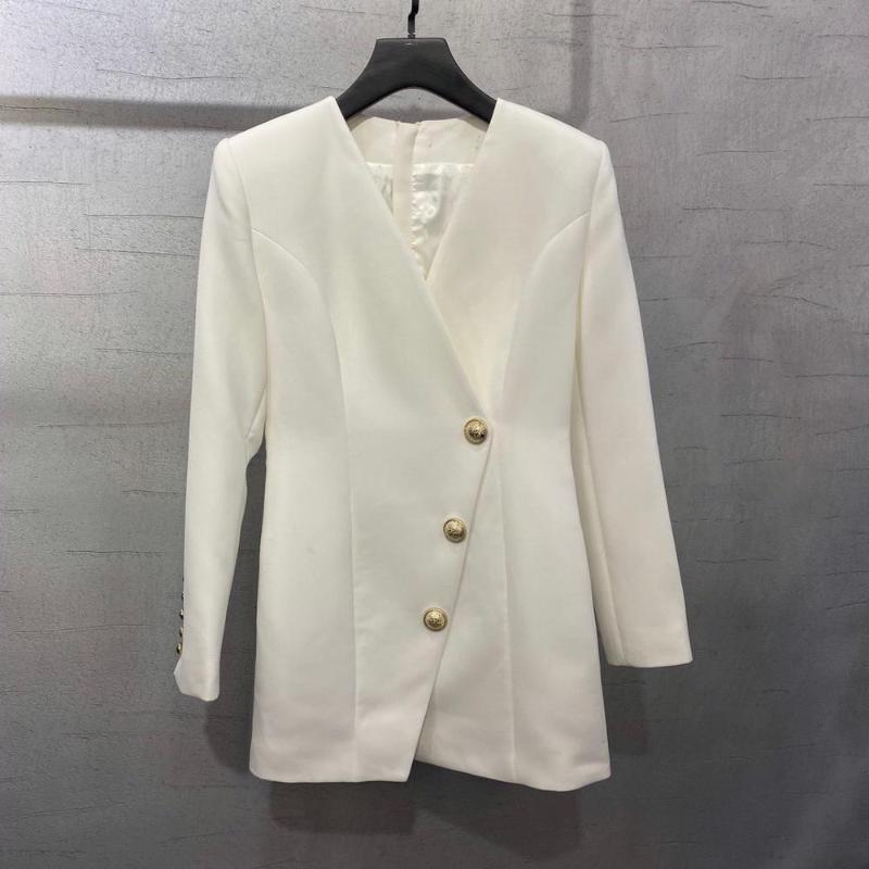 2020 autumn high quality women long sleeve V neck dress ladies luxury dresses 2 color gdnz 8.02