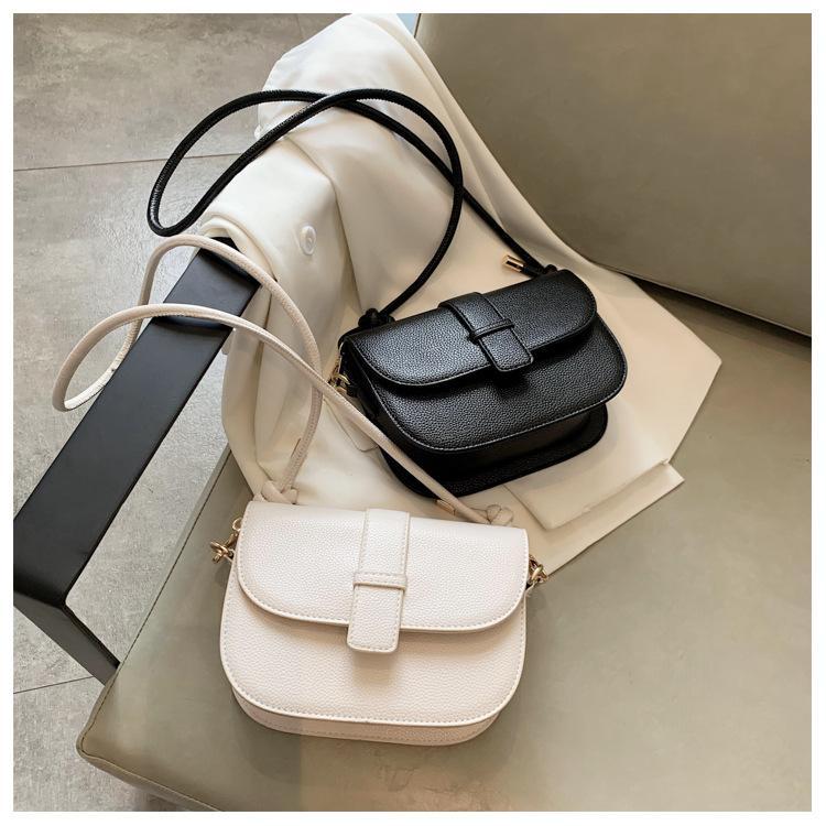 Qualité solide Couleur Pu carré en cuir Sacs à bandoulière pour les femmes 2020 nouveaux sacs à main de luxe simple Femme Sac à bandoulière Messenger