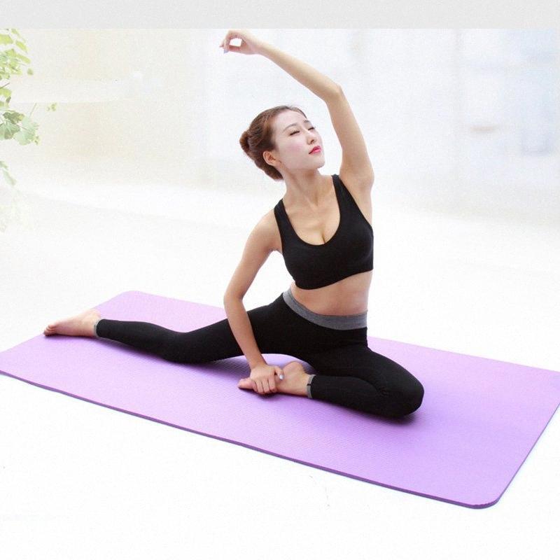 Yoga Mat spessi materassini per lo sport e allenamento di yoga-Mat con posizione della linea di attrezzature per il fitness per Esercizio in palestra squat Casa o Casa Y3os #