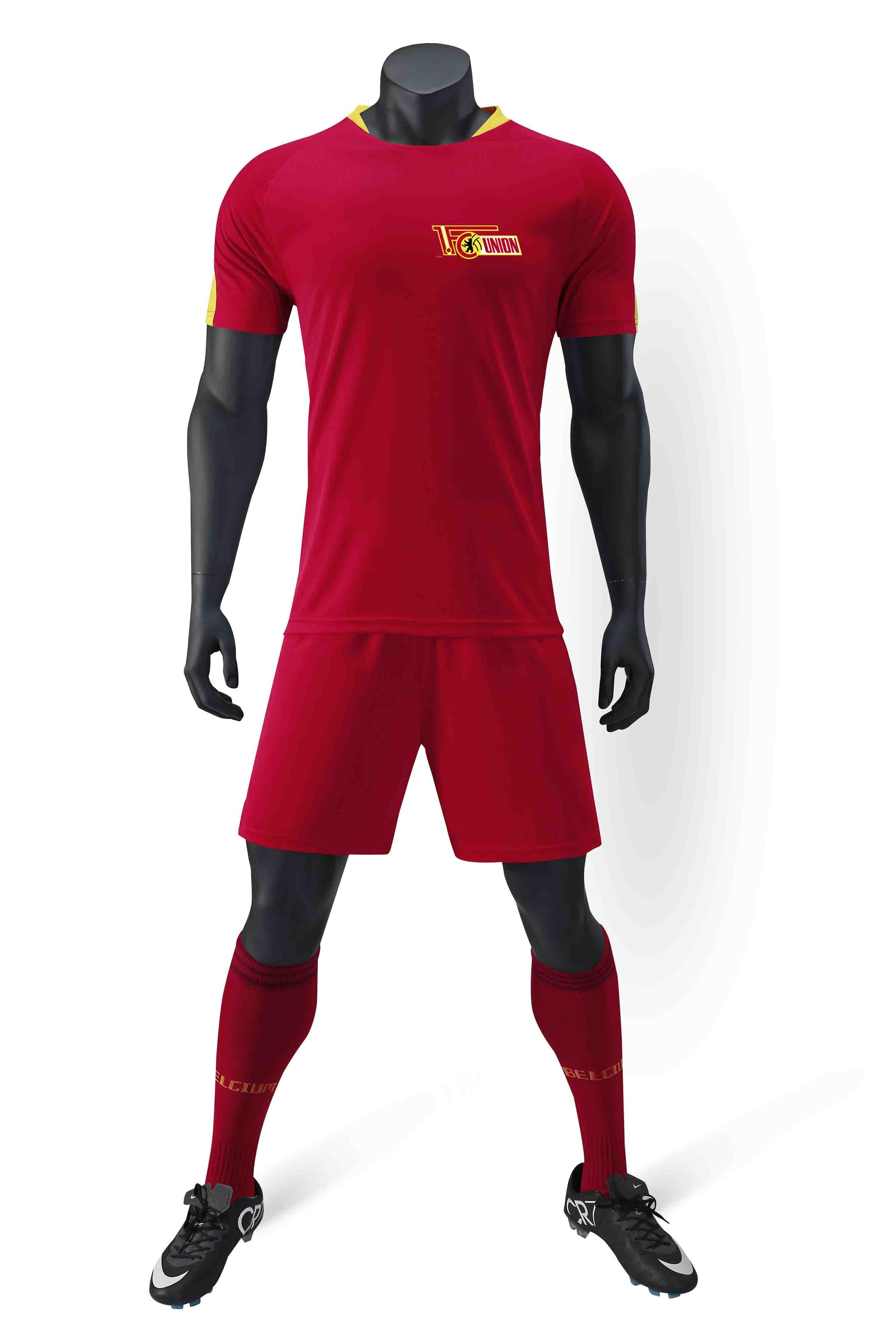 FC Union Berlin 100% полиэстер спорта новый шаблон случайные футболки футбол костюм обучение модные мужские футбольные костюмы