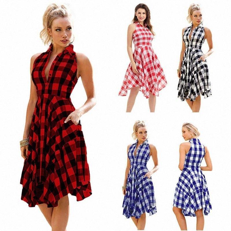 Designer Womens Vestidos para o Verão New Arrival Moda mangas Mulheres Vestidos Sexy Mulheres Streetwear Vestido Tamanho S 3XL PH YF205112 FM3C #