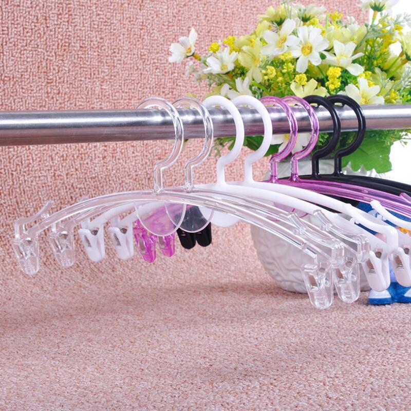 شفافة من البلاستيك أزياء اللباس الداخلي شماعات سميكة حمالة الصدر شماعات مع مقطع شماعات الملابس الداخلية الخاصة متجر لبيع الملابس EWF923