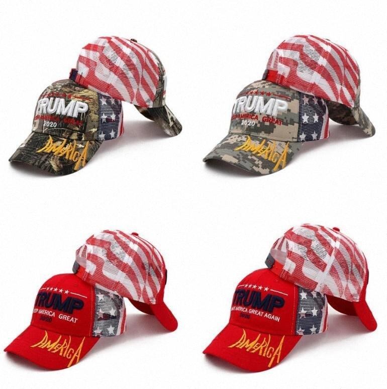 Donald Trump Baseball Cap Trump 2020 MANTER bordado América grande Camuflagem Caps Partido camionista Camo Chapéus OOA8053 f7uV #