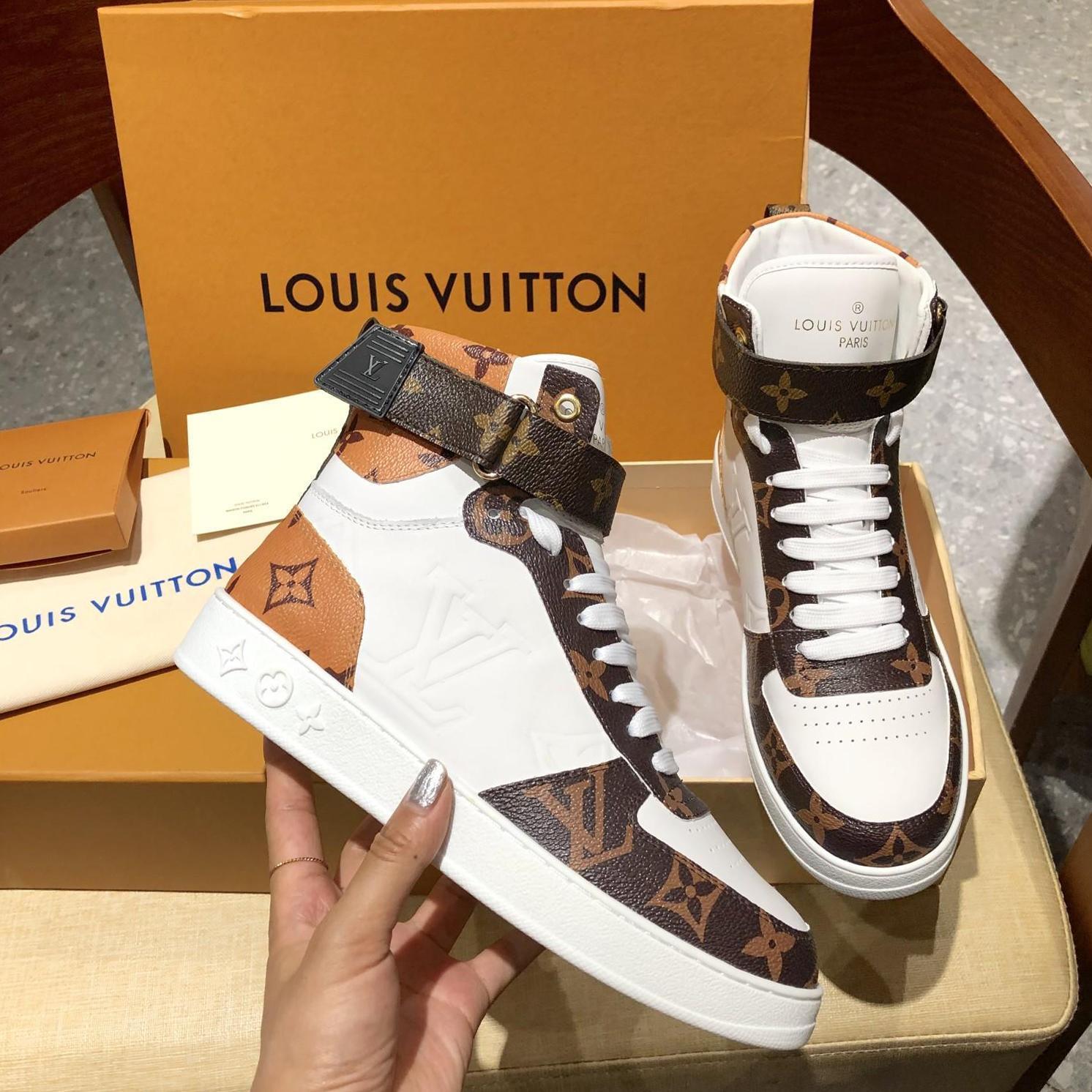 Lüks Womens deri yüksek top rahat spor ayakkabıları, Yeni listeleme kişilik vahşi Baskı deseni Çift Casual ayakkabılar boyutu 35-46 0077