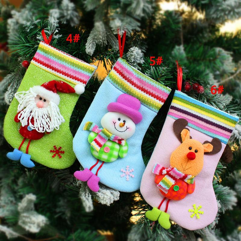 Hediye Çanta Şeker Çanta Yılbaşı Ağacı Süsleme Ev Partisi Dekorasyon DBC VT1004 Asma Noel Çorap Noel Baba Noel Çorap Noel Ağacı